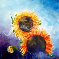 abstract landscaping - Fervent Sunflowers
